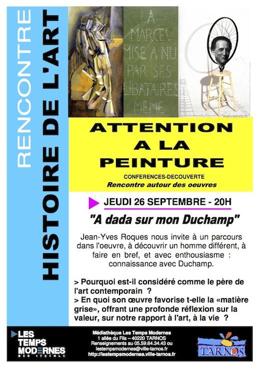 Flyer - Attention à la peinture - A dada sur mon duchamp