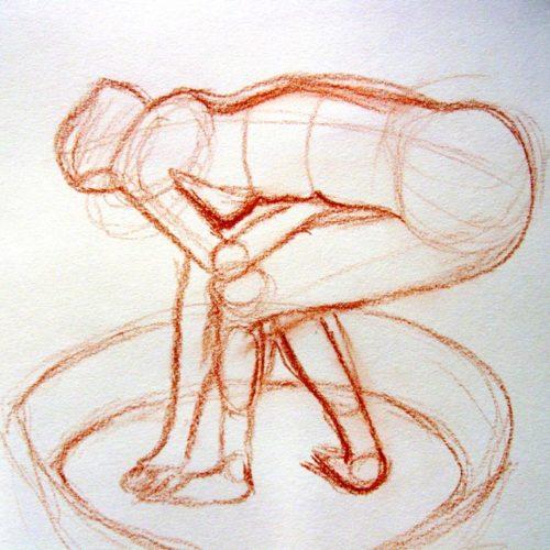 Esquisse sanguine d'aprés Degas