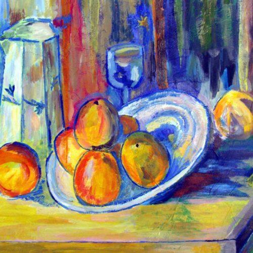 D'aprés Cezanne Isabelle Meunier Acrylique et papiers collés