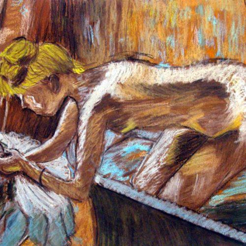 Nu d'aprés d'aprés Degas Pastels secs Lise