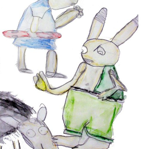 Ekhi, marrazkiak. crayons aquarellables