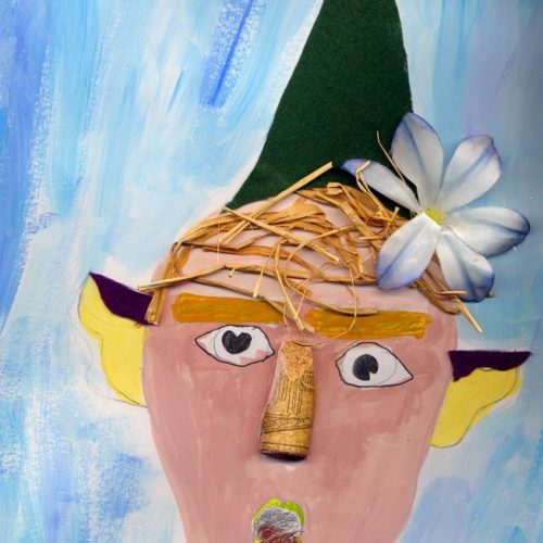 Le nain Farfelu par Mila Goauche et collages
