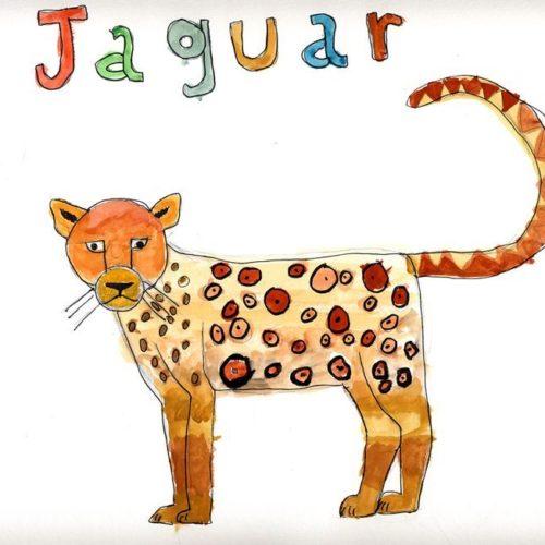 Jaguar aquarelle Faustine